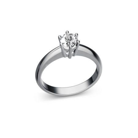 Verlobungsring Lisa - Weissgold 585 - 0,40 crt - TW/SI
