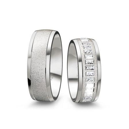 Trauringe Pia - Silber 935 - 0,90 crt - Zirconia