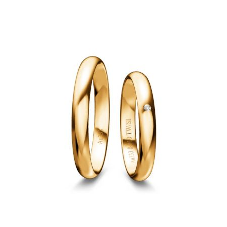 Trauringe Marie - Gelbgold 333 - 0,010 crt - TW/SI