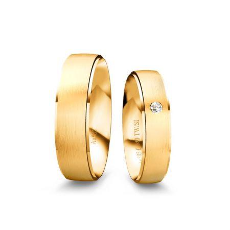 Trauringe Lia - Gelbgold 585 - 0,040 crt - TW/SI
