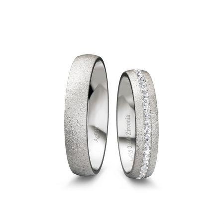 Ttrauringe Helena - Silber 935 - 0,160 crt - Zirkonia