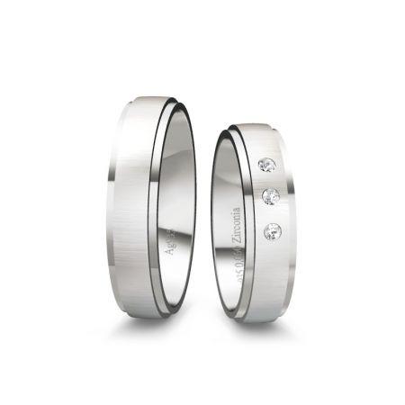 Trauringe Mara - Silber 935 - 0,060 crt - Zirkonia