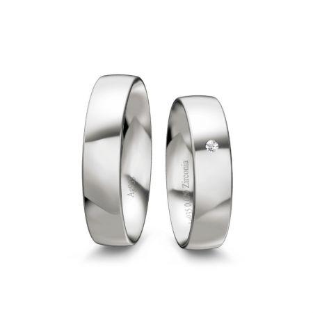 Trauringe Mia II - Silber 935 - 0,020 crt - Zirkonia