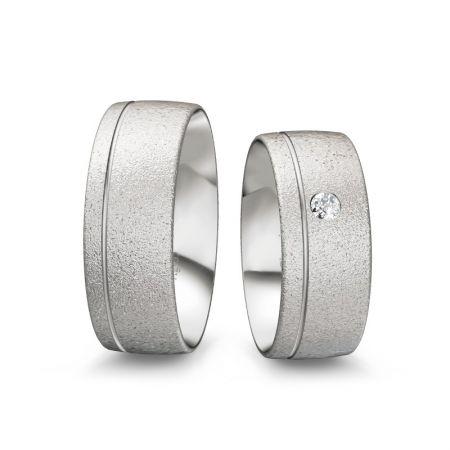 Trauringe Antonia - Silber 935 - 0,080 crt - Zirkonia