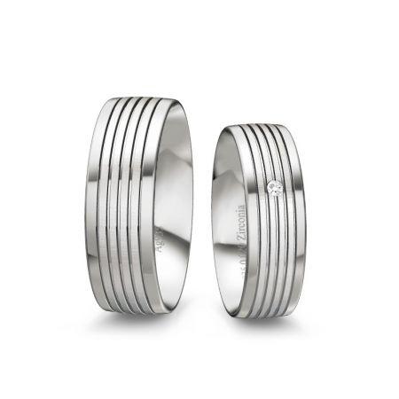 Trauringe Lena - Silber 935 - 0,020 crt - Zirkonia