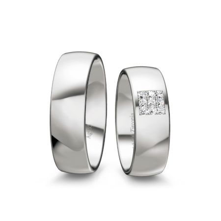 Trauringe Melina - Silber 935 - 0,090 crt - Zirkonia