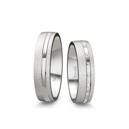 Trauringe Emmi - Silber 925 - 0,095 Crt - Zirconia