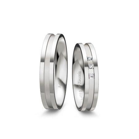 Trauringe Marlene - Silber 925 - 0,120 crt - Zirconia