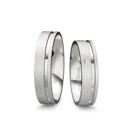 Trauringe Emilia - Silber 925 - 0,020 crt - Zirconia