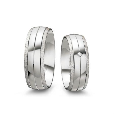 Trauringe Lynn II - Silber 925 - 0,040 Crt - Zirconia