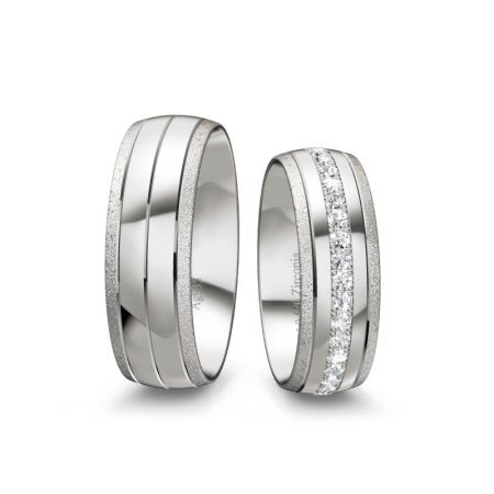 Trauringe Lynn - Silber 925 - 0,570 Crt - Zirconia