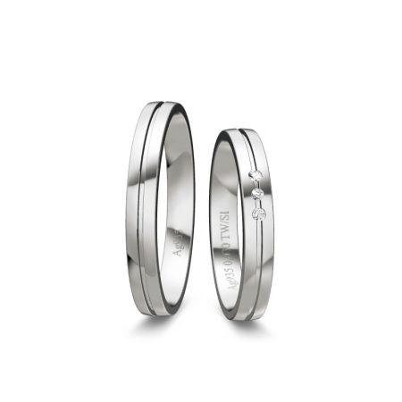Trauringe Liana - Silber 925 - 0,030 Crt - TW/SI