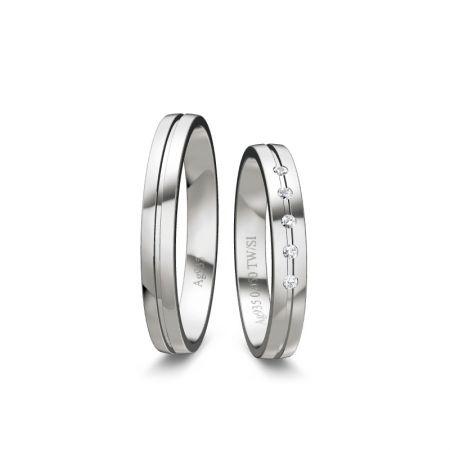 Trauringe Liana I - Silber 925 - 0,050 Crt - TW/SI