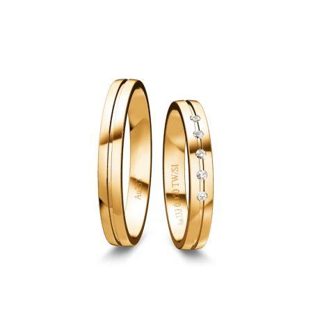 Trauringe Liana I - Gelbgold 333 - 0,050 Crt - TW/SI