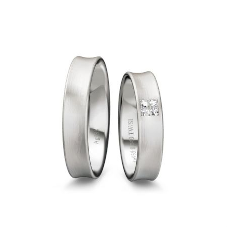 Trauringe Linda - Silber 925 - 0,040 Crt - TW/SI