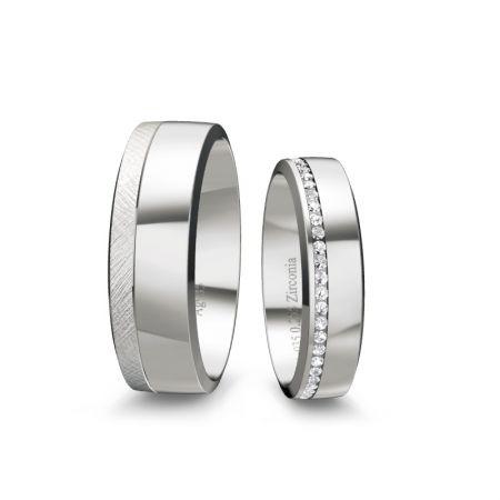 Trauringe Romy - Silber 925 - 0,260 crt - Zirconia
