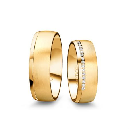 Trauringe Isabell - Gelbgold 333 - 0,080 crt - TW/SI