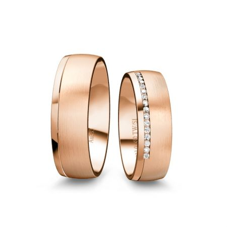 Trauringe Isabell - Roségold 333 - 0,080 crt - TW/SI