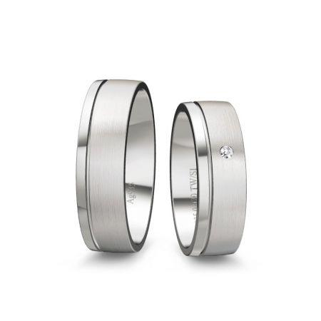 Trauringe Paula - Silber 925 - 0,020 crt - TW/SI