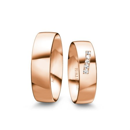 Trauringe Theresa - Roségold 585 - 0,050 Crt - TW/SI