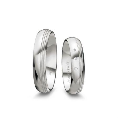 Trauringe Elina - Silber 925 - 0,015 Crt - TW/SI