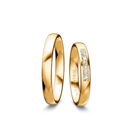 Trauringe Eva - Gelbgold 333 - 0,070 Crt - TW/SI