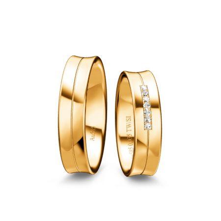 Trauringe Clara II - Gelbgold 333 - 0,035 Crt - TW/SI
