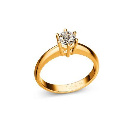 Verlobungsring Lisa - Gelbgold 750 - 0,50 crt - TW/SI
