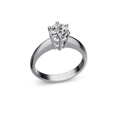 Verlobungsring Lisa - Weissgold 750 - 1,00 crt - TW/SI