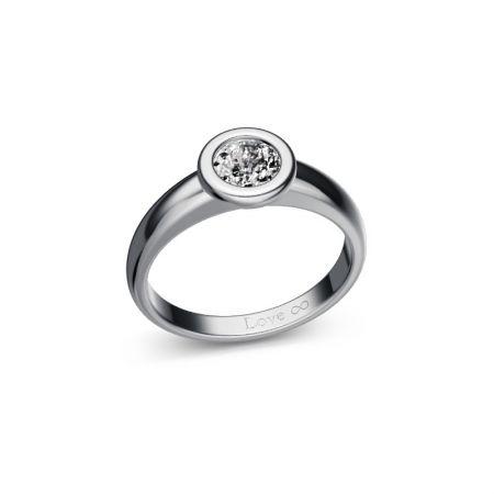 Verlobungsring Bella - Weissgold 750 - 0,50 crt - TW/SI