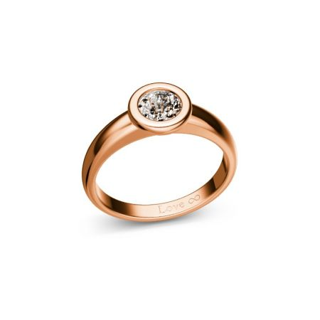 Verlobungsring Bella - Roségold 750 - 0,50 crt - TW/SI
