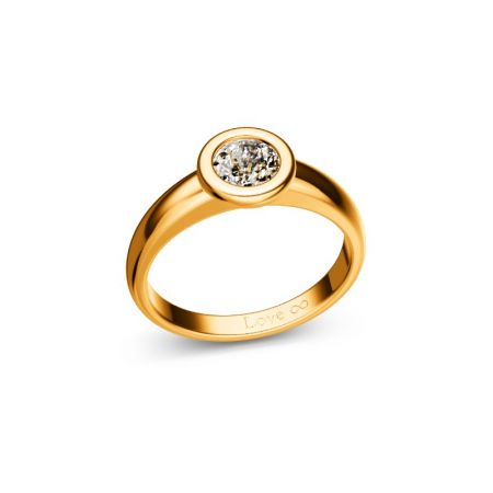 Verlobungsring Bella - Gelbgold 750 - 0,50 crt - TW/SI