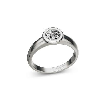 Verlobungsring Bella - Silber 925 - 0,50 crt - Zirconia