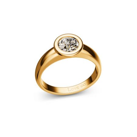 Verlobungsring Bella - Gelbgold 750 - 0,75 crt - TW/SI
