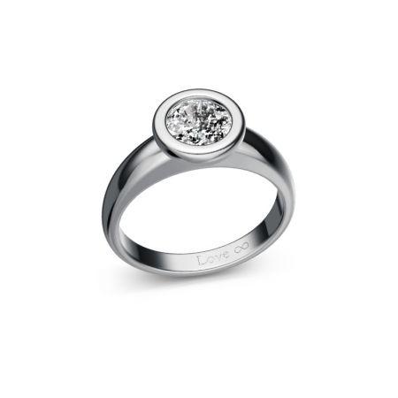 Verlobungsring Bella - Weissgold 750 - 1,00 crt - TW/SI