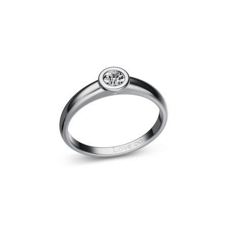 Verlobungsring Bella - Weissgold 750 - 0,20 crt - TW/SI