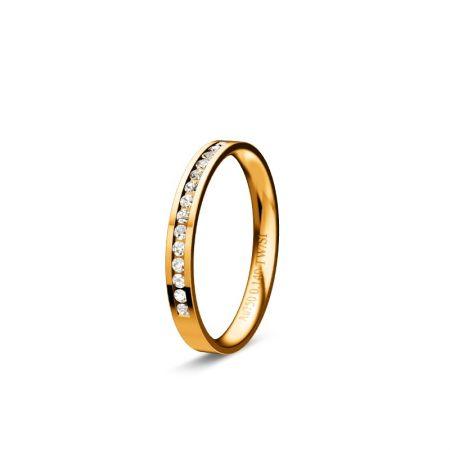 Memoire Zara I - Gelbgold 750 - 0,140 Crt - TW/SI