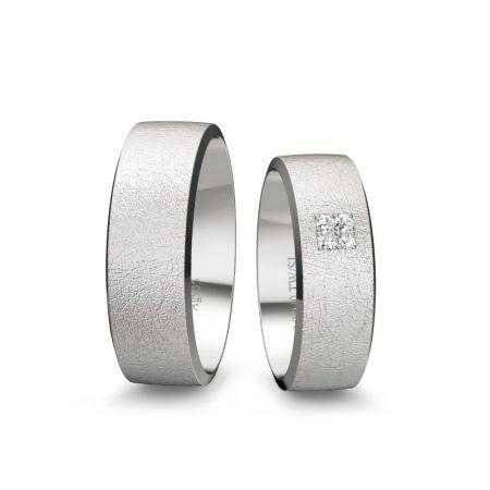 Trauringe Melissa II - Silber 925 - 0,040 Crt - TW/SI