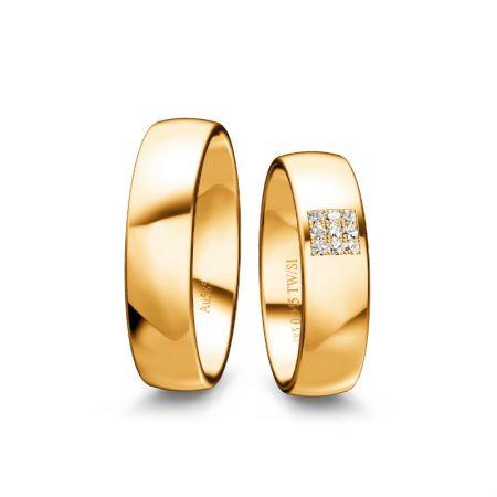 Trauringe Annika I - Gelbgold 585 - 0,045 Crt - TW/SI
