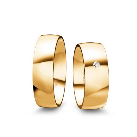 Trauringe Emely I - Gelbgold 333 - 0,030 Crt - TW/SI