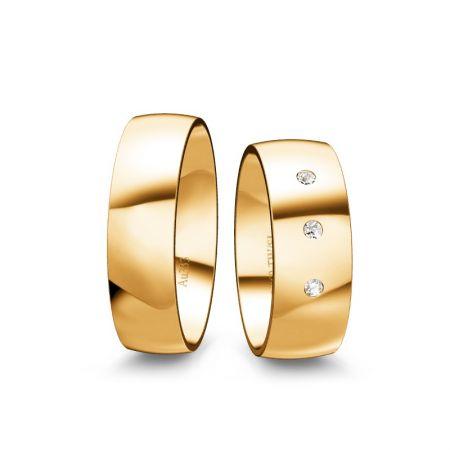 Trauringe Emely II - Gelbgold 333 - 0,060 Crt - TW/SI