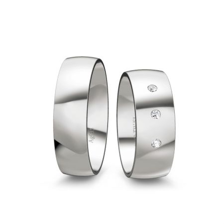 Trauringe Emely II - Silber 925 - 0,060 Crt - TW/SI