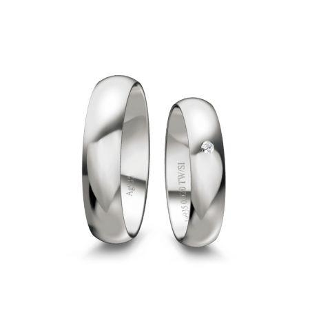 Trauringe Helen - Silber 925 - 0,020 Crt - TW/SI