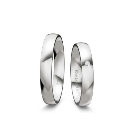 Trauringe Liz - Silber 925 - 0,020 Crt - TW/SI