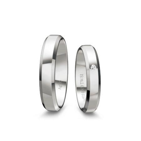 Trauringe Viola - Silber 925 - 0,020 Crt - TW/SI