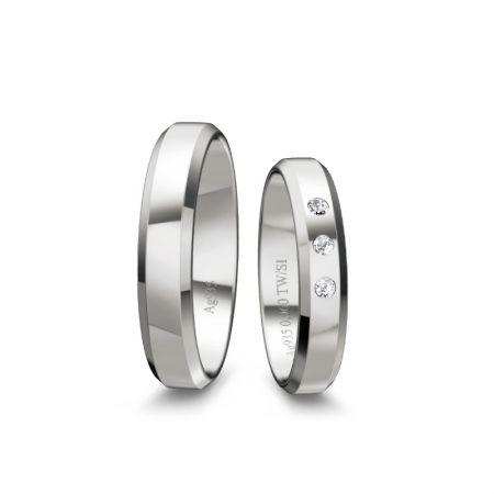 Trauringe Viola I - Silber 925 - 0,060 Crt - TW/SI