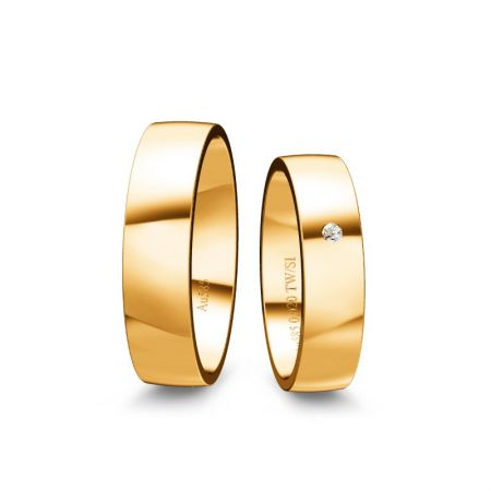 Trauringe Tina - Gelbgold 585 - 0,020 Crt - TW/SI