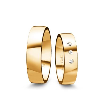 Trauringe Tina I - Gelbgold 585 - 0,060 Crt - TW/SI