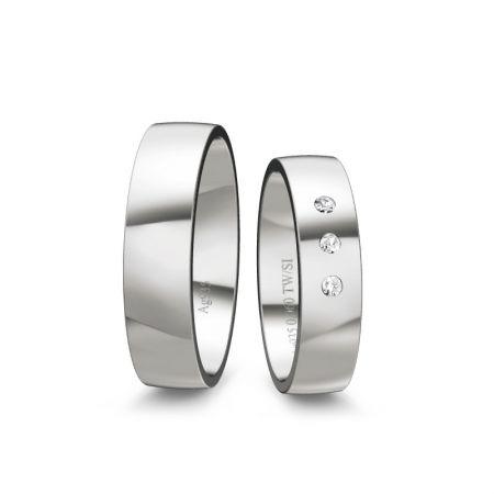 Trauringe Tina I - Silber 925 - 0,060 Crt - TW/SI