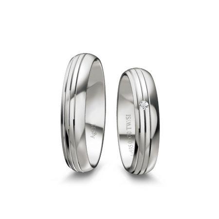 Truringe Lotte - Silber 925 - 0,020 Crt - TW/SI